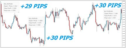 Sample winning trades - 1000Pip Builder